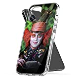Phone Case Alice Waterproof in Funny Wonderland Clear Johnny TPU Depp Pc Mad Hatter Anne Art Portrait Compatible for iPhone 6 6s 7 8 X Xr Xs 11 12 Pro Max Plus Se 2020
