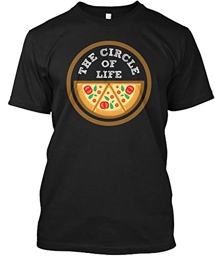 The Circle of Life Pizza Love - XLT - Black T-Shirt - Hanes Tagless Tee