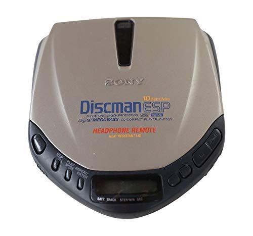 Sony D-E 305 tragbarer CD Spieler Discman in Silber