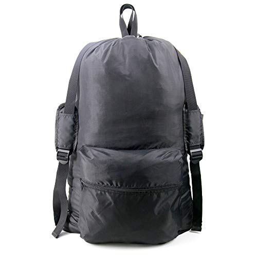 """Laundry Bag Backpack XLarge 24""""x36"""" with Zipper Pocket Heavy Duty Waterproof College Dorm Laundry Bag with Shoulder Strap and Handle Portable Laundry Backpack for Travel Men & Women"""