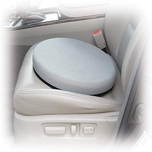 ShenMiDeTieChui 360 Grad drehbares Memory Foam-Drehkissen Ideal für Auto/Heim/Büro Drehkissen für Autositze Mobilitätshilfe Movingparts (Color : Gray)