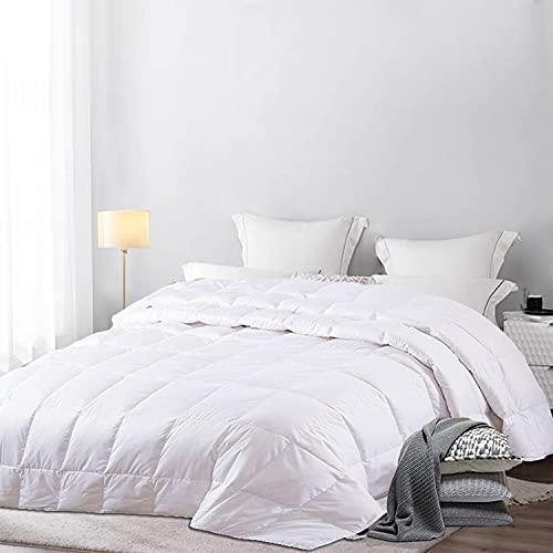 Amazon Brand - Umi Sommerdecke 200x200, Leichte Daunen Bettdecke für den Sommer, Daunendecke atmungsaktiv, Sommer Decke 200x200cm Oeko-Test Zertifiziert
