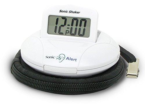 Geemarc SBP100 Tragbarer Reisewecker mit extra lautem Alarm 70 dB + Vibration + Tragetasche