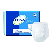 TENA Protective Underwear, Extra Absorbency - Large - 45-58 hip size, over 185 lbs. (4 Bags of 16) by TENA