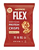 Popcorners Flex Protein Chips Vegan Gluten-Free Snacks, Barbecue, 1 Ounce (Pack of 20)