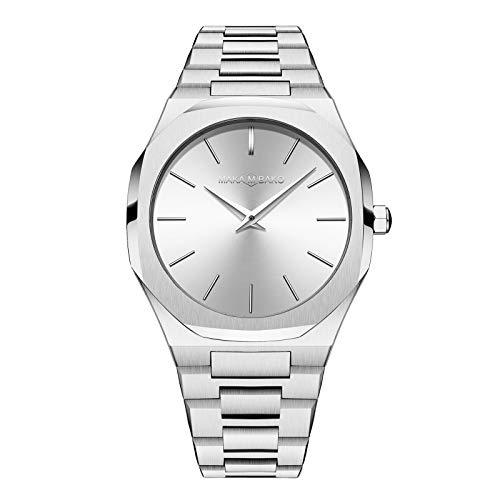 Herrenuhren Royal Oak Groß Analog Armbanduhren für Herren Edelstahlband, Silber