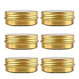 bubussv 12er 60ml Gold Leer Aluminum Döschen Tin Für Lippenbalsam Creme Kerzen Pinnadel Kosmetik...
