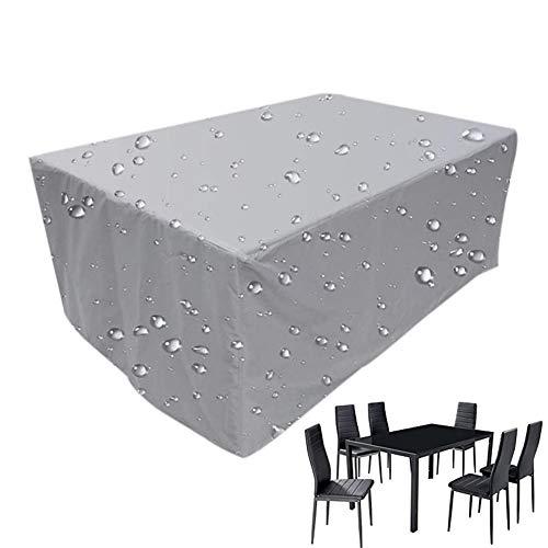 XGG Funda Protectora para Muebles de Jardín Impermeable Resistente al Polvo Anti-UV Protección Exterior Muebles de Jardín Cubiertas de Mesa y Silla137.8 * 102.36 * 27.55in