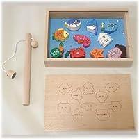 木製おもちゃのだいわ たいりょう 魚つりセット 箱付き