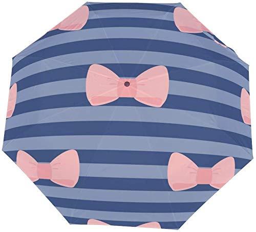 Paraguas manual de tres pliegues, azulejo de lazo dulce, paraguas nano plegable de tres pliegues, protector solar que cubre el sol y la lluvia