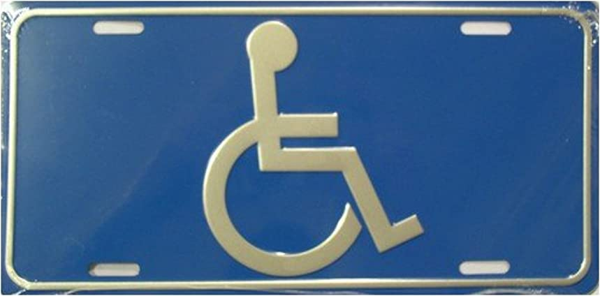 Handicap Logo Aluminum Automotive Novelty License Plate Tag Sign