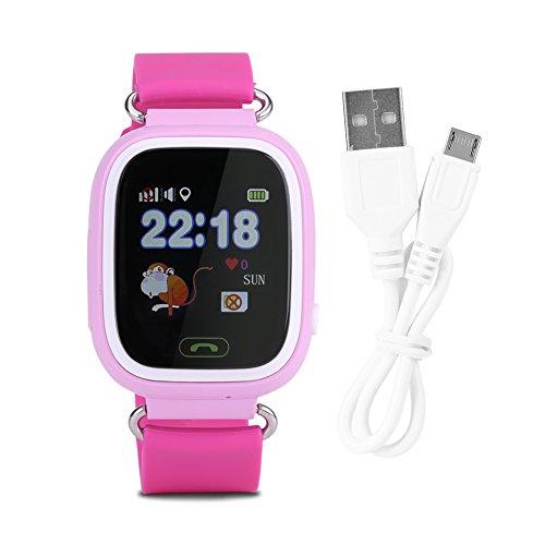 Liukouu SOS Anti-Lost Watch Reloj de Pulsera Localizador GPS Bebé Seguro Niño con WiFi(1)