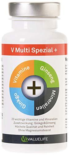 Multivitamin Kapseln A-Z - Alle wichtigen Vitamine, Mineralien, Spurenelemente + natürliche...