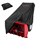 HOMEYA Snow Blower Cover, Snow Thrower Cover Heavy Duty Waterproof Snowblower Protector All Weather Outdoor Protection Universal Size for Most Blower Winter Yard Machine - 50.4'x40'x32.7'(LxHxW)