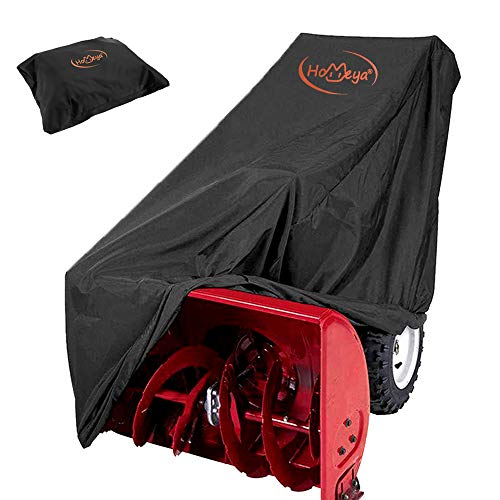 """HOMEYA Snow Blower Cover, Snow Thrower Cover Waterproof Snowblower Protector All Weather Outdoor Protection Universal Size for Most Blower Winter Yard Machine - 50.4""""x40""""x32.7""""(LxHxW)"""