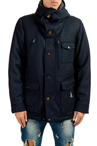 Moncler Men's Blue Hooded Down Parka Jacket Coat Sz 3 US M