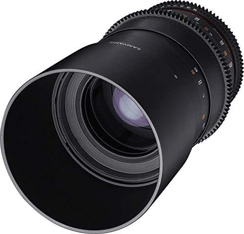 Samyang 100/3,1 Objektiv Makro Video DSLR Canon EF manueller Fokus Videoobjektiv 0,8 Zahnkranz Gear, Makroobjektiv schwarz