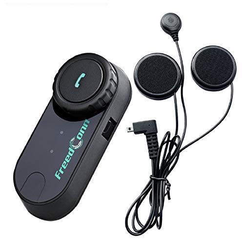 FreedConn Motorrad Intercom Bluetooth Headset, T-COM VB 800M Helm Intercom Geräuschreduzierung, Kommunikationssystem für Motorräder, Freisprechanlage bei Motorradfahren und Skifahren (1er-Set)