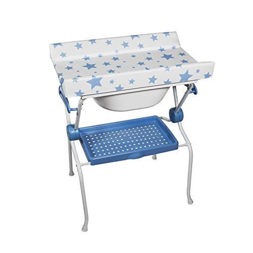 Plastimyr - Bañera plegable Sobrebidé ESTRELLAS Azul