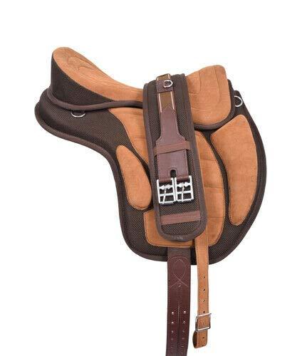 Wonder Wish - Freemax - Silla de montar a caballo de uso general, tamaño de 30,4 a 45,7 cm, canela, 17.5 Inches Seat
