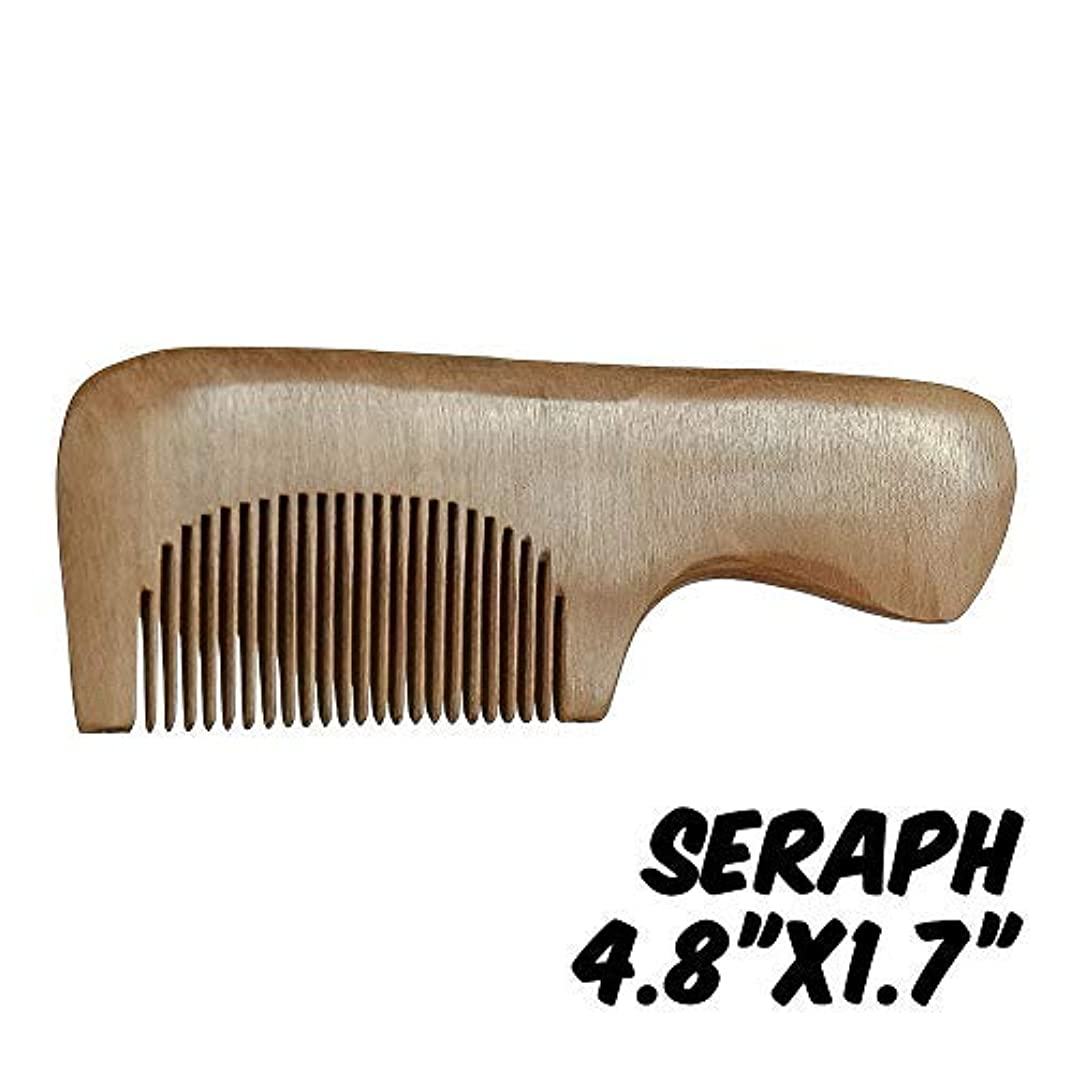 酔う極地燃料Markin Arts Seraph Series Handmade Natural Organic Indian Lilac Wood Anti-Static Hypoallergenic Pocket Handle Dry Comb Healthy Shiny Hair Beard Bristle Stubble Styling Grooming Brush 4.8