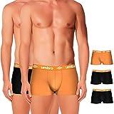 Umbro Set de 3 boxers multicolor-100% algodón-color negro(x2)/naranja(1) Bóxer, PACK 03 T041-4, L 5 para Hombre