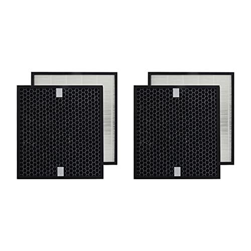 PUREBURG Set di 2 filtri HEPA a carbone attivo 2 in 1, compatibili con purificatore d'aria Philips AC4080/10, codice articolo AC4158/00