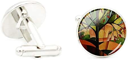 trend rank Vesna Famous Year-end annual account Abstract Painting Cufflinks Futuristic Poeple The A