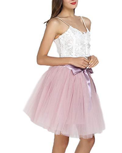 SCFL Frauen Tutu Rock Petticoat Underskirt Ballett Rock Half Slip