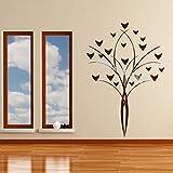 jiuyaomai Bouquet de Fleurs Floral Vase Wall Sticker Design Simple Home Decor Salon Art Beau Bouquet De Fleurs Nature Peintures Murales 78x118 cm
