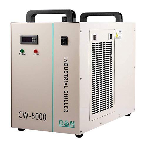 FlowerW Wasserkühler 6L Industrie Wasserkühler 10L / min Wasserkühler Kühler 800W Wasserkühler 80 / 100W CO2 Glasrohr (CW5000)