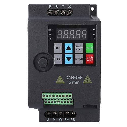 VFD 220V/380V, Mini Variador de Frecuencia,Convertidor de Frecuencia Variable Monofásico/Trifásico con Control PWM(380VAC,1.5KW)