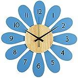 JJDSN Reloj de Pared de Dibujos Animados, Reloj de Pared para niños, Reloj de Pared con Forma de Flor, Reloj de Pared para jardín de Infantes, Tienda de Juguetes, Reloj de Pared, Uso Familiar