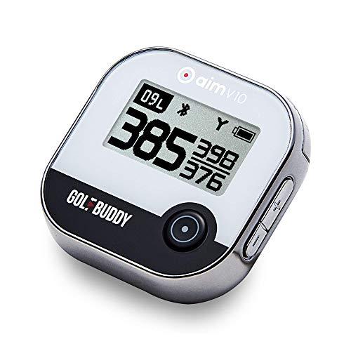 GolfBuddy Unisex-Adult AIM V10 Golf GPS, Chrome, Einheitsgröße