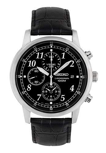 Seiko Orologio Cronografo Quarzo Uomo con Cinturino in Pelle SNDC33P1