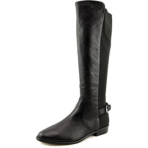 Coach Women's Washed Tumbled Black Leather Liza Stretch Boot (6)