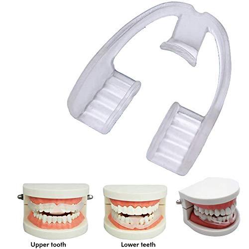 Mauel Transparent Aufbissschiene, Biss Schiene Mundschutz eliminiert Bruxismus und Zähneklemmen Zahnschiene Verbesserung Ihrer Schlafqualität Zähneknirschen Knirschen Bruxismus Schutz Zähne