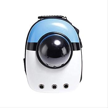 yitan Sac Transport Chat Respirant Pet Carrier Sac À Dos pour Chiens Chats Transparent Capsule Fenêtre Sac pour Chat Chien Animaux Pochette Mascotas Bleu