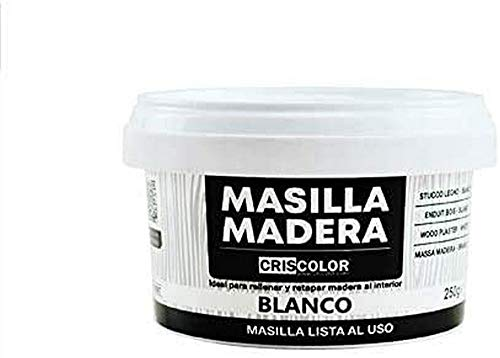 Criscolor Masilla Madera Blanco, ENVASE 250gr