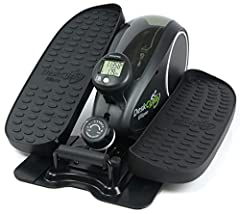 STAY FIT IN THE OFFICE - Our high quality under desk elliptical exerciser can help burn calories, heighten your energy level, and increase productivity while reducing stress during work! SMOOTH AND QUIET MAGNETIC RESISTANCE - The ultra-smooth pedal m...