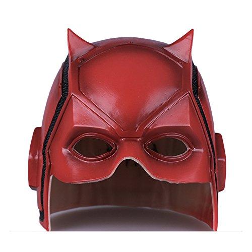 nihiug Daredevil Nighthawk Helm Maske Cosplay Halloween Cos Helm Prop DC,Red-OneSize