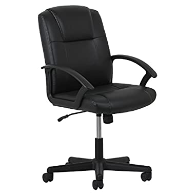 OFM Essentials Leather Executive Office/Computer Chair with Arms - Ergonomic Swivel Chair (ESS-6000)