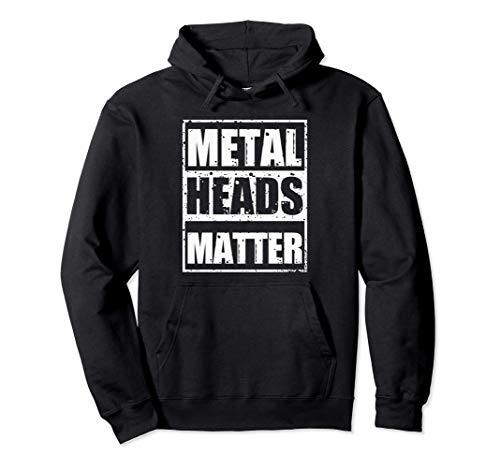 Heavy Metal Musik Metaller Gitarre Pommesgabel Geschenk Pullover Hoodie