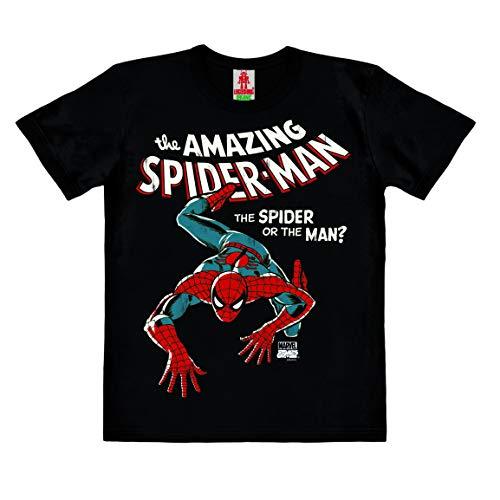 Logoshirt - Marvel Comics - The Amazing Spider-Man - Camiseta 100% algodón ecológico para niño - Negro - Diseño Original con Licencia, Taglia 176, 14+ años