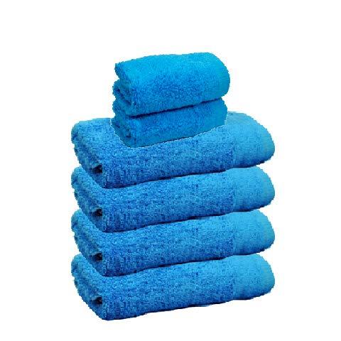 Atrivm Toallas hogar 100% algodón, más Suaves y absorbentes, esponjosas, te secan y se secan más rápidamente. Mejor relación Calidad-Precio (4 Toallas de Lavabo + 2 Toallas de tocador, Atlantic)