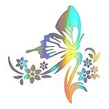 Autoaufkleber Schmetterling Blumen thumbnail