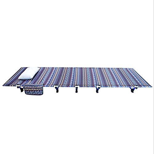 YALIXI Cama Plegable, Cama Plegable Portátil Ultraligera Y Cómoda De Aleación De Aluminio para Exteriores,A,M