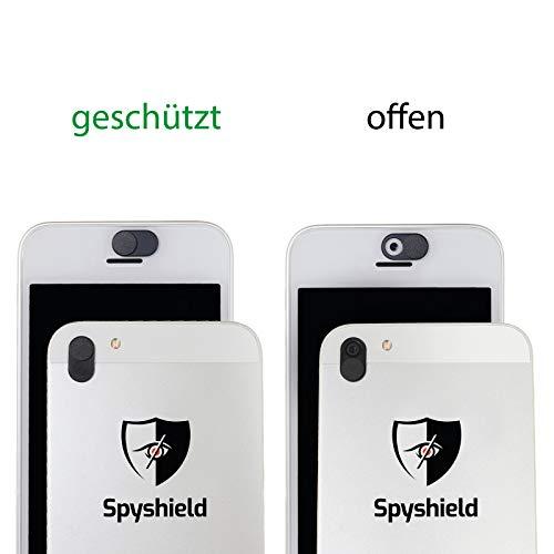 Spyshield© Kamera Abdeckung, Webcam Cover, Kamera Blocker für Smartphone, Tablet, Laptop (2er Pack)