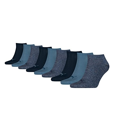 Puma unisex Sneaker Socken Kurzsocken Sportsocken 261080001 9 Paar, Farbe:Blau, Menge:9 Paar (3 x 3er Pack), Größe:43-46, Artikel:-460 denim blue
