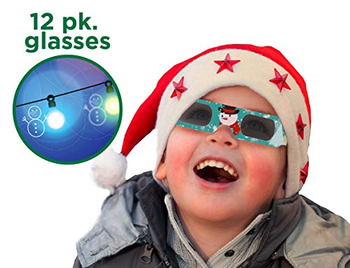 For Sale! Holiday Specs 3D GLASSES-12pk Holographic glasses, Look through Glasses at your Holiday Li...